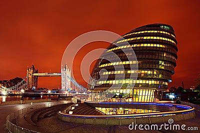 London City Hall / Tower Bridge Editorial Stock Image