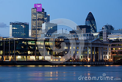 London city illuminated with Olympic rings Editorial Photo