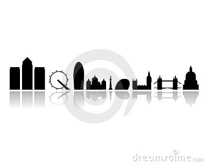 London city landmarks isolated