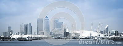 London city o2 arena skyline panorama
