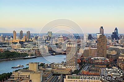 London city panoramic view
