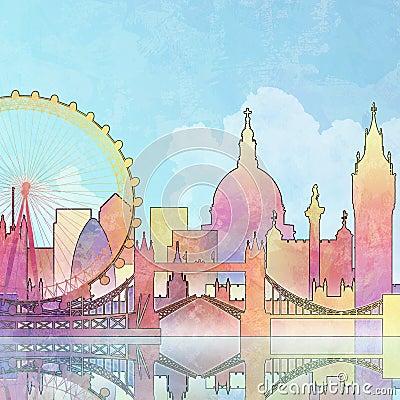 London Cityscape Editorial Stock Image
