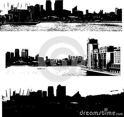 London cityscape grunge style