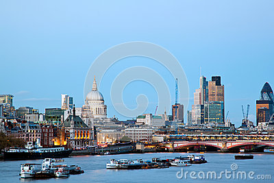 London Cityscape with St Paul s Cathedral