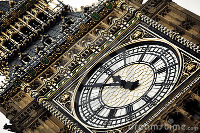 London clock tower detail