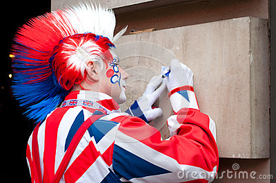 London clown Editorial Stock Photo