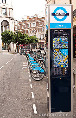 London Cycle Hire Editorial Image