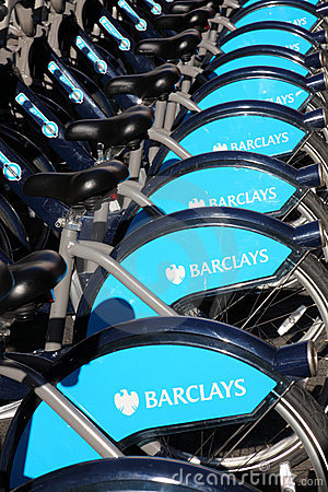 London Cycle Hire Editorial Photo