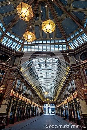 Free LONDON - DEC 20 : Leadenhall Market On A Sunday In London On Dec Royalty Free Stock Photos - 70769488