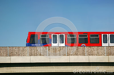 London DLR Editorial Stock Photo