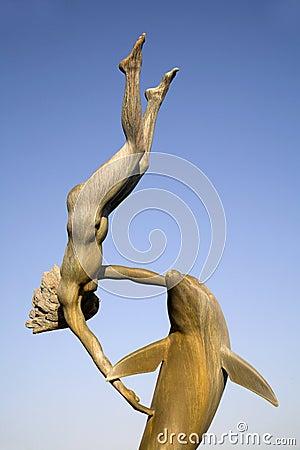 London - dolphin sculpture