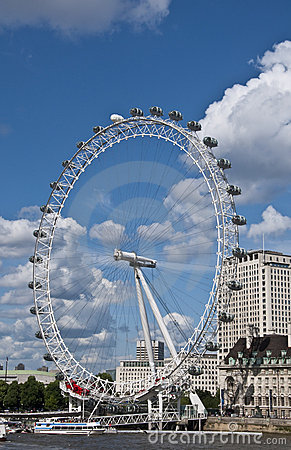 The London Eye Editorial Stock Image