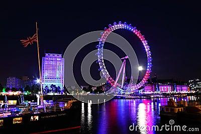 London eye 2012 Queen s jubilee Editorial Stock Image