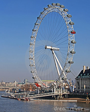 London Eye Editorial Stock Photo