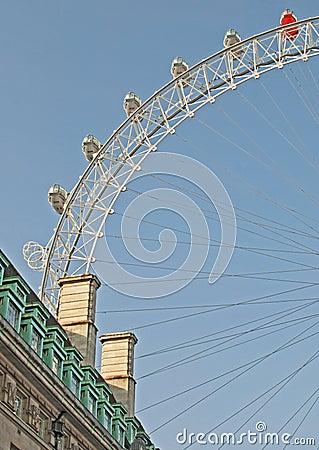 London Eye Editorial Stock Image