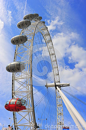 London Eye Editorial Stock Image