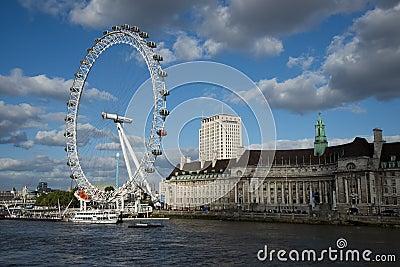 London Eye Editorial Stock Photo