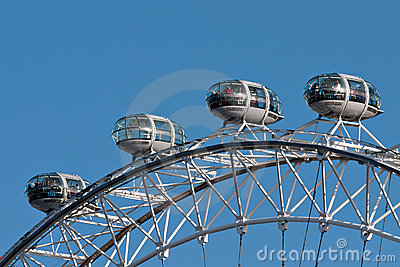 London Eye aka Millennium Wheel detail Editorial Photography