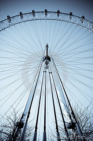 London Eye Architectural Structure Editorial Photography