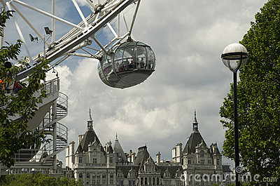 London Eye Capsule Editorial Photography