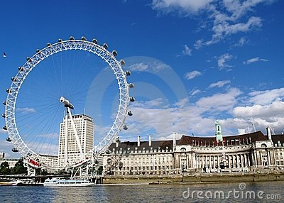 London Eye & County Hall Editorial Photography