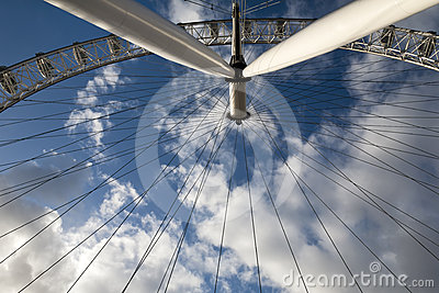 London eye in detail Editorial Image