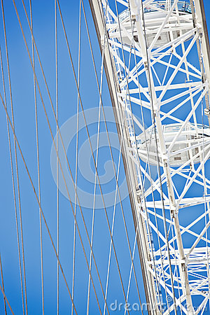 London eye details Editorial Stock Image