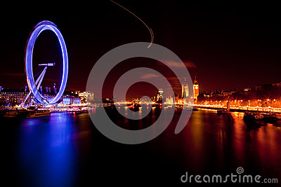 London Eye England Editorial Stock Photo
