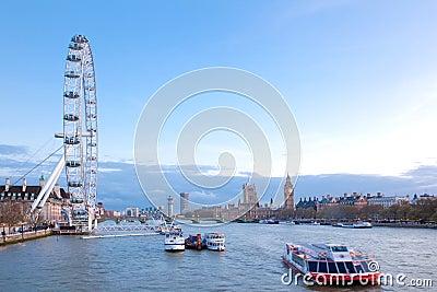 London Eye England Editorial Photography