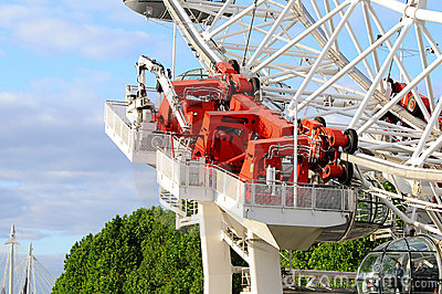 London eye - hydraulic drive Editorial Stock Image