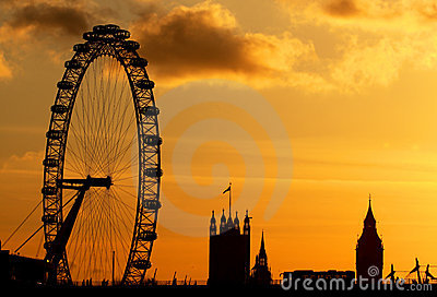 London Eye in London Editorial Stock Image