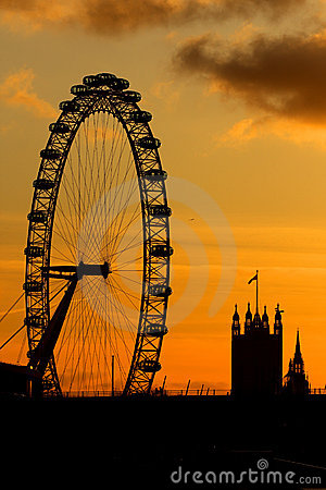 London Eye In London Royalty Free Stock Image - Image: 12184176