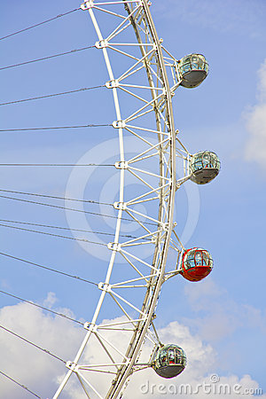 The London Eye in London Editorial Stock Image