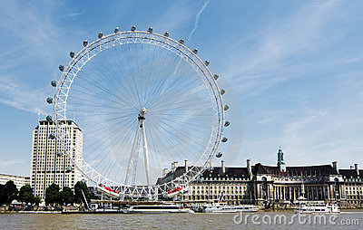 The London Eye, London, United Kingdom Editorial Photo