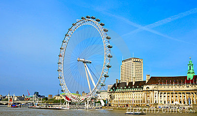 London Eye, in London, United Kingdom Editorial Image