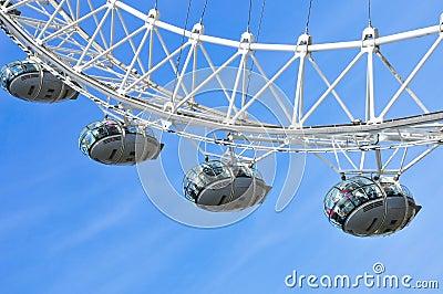London Eye, in London, United Kingdom Editorial Image