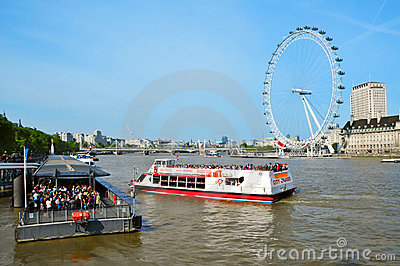 London Eye, in London, United Kingdom Editorial Photography