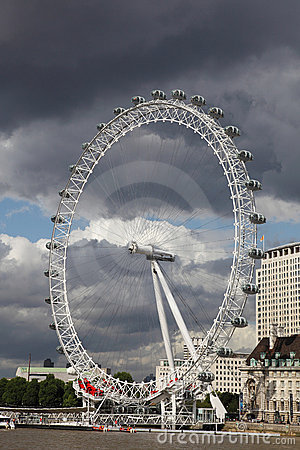 London Eye by night Editorial Stock Image