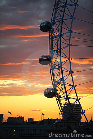 London Eye by night Editorial Stock Image