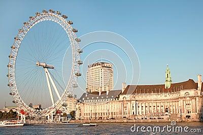 London Eye panoramic Editorial Photography