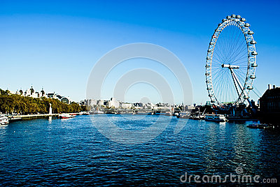 London Eye and river Thames Editorial Photography
