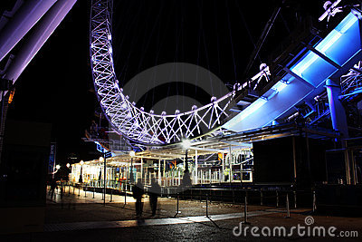 London Eye South Bank Editorial Image
