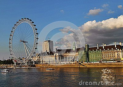 The london eye and Thames river