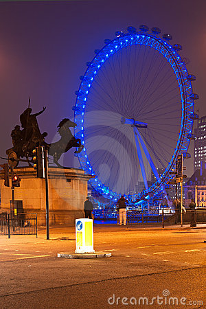London Eye, UK. Editorial Stock Photo