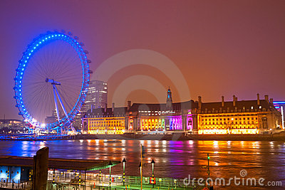 The London Eye, UK- Editorial Stock Photo