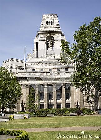 London - facade of bank