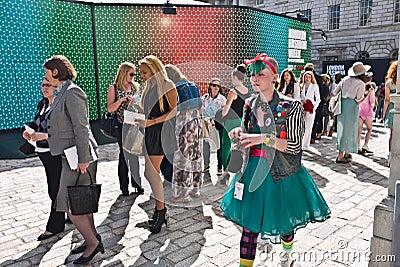 London Fashion Week at Somerset House. Editorial Photo