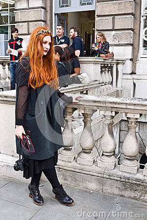 London Fashion Week at Somerset House Editorial Image