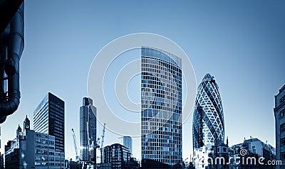 London financial discrict.