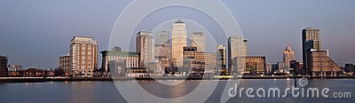 London financial district panoramic skyline 2013